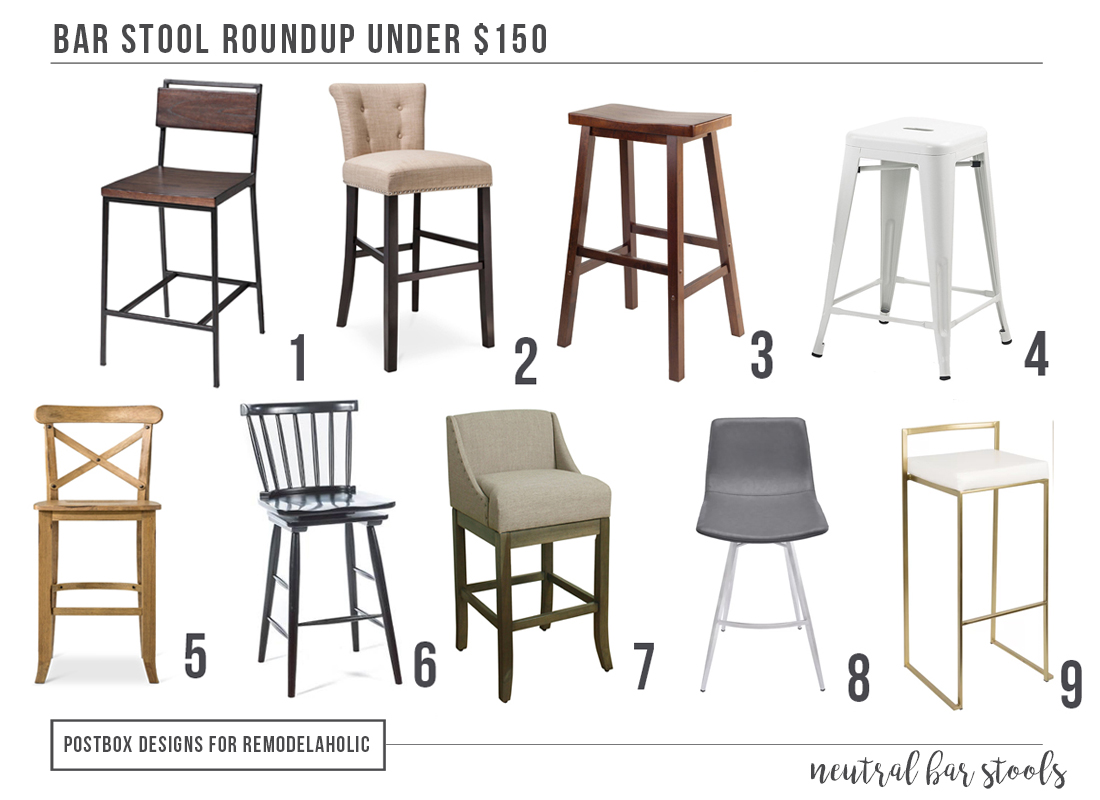 affordable barstool - $150 and Under Kitchen Barstool Round-Up by Postbox Designs