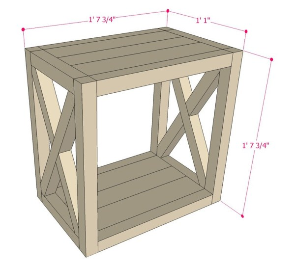 Entryway Table Woodworking Plans Design Blueprint High Quality Drawings Cut List