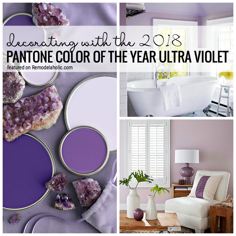 remodelaholic decorating with the 2018 pantone color of the year ultra violet. Black Bedroom Furniture Sets. Home Design Ideas