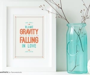Free Printable Graphic You Can't Blame Gravity For Falling In Love AD Aesthetic For Remodelaholic Horizontal