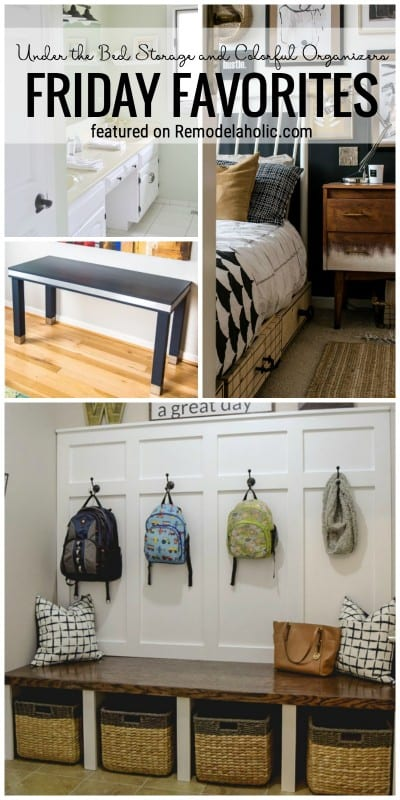 Get Organized And Ready For The New Year With These Ideas. Under The Bed Storage And Colorful Organizers Featured On Friday Favorites On Remodelaholic.com