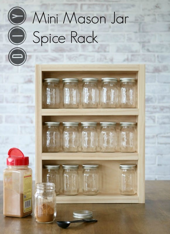 andrew mawby build a mini mason jar spice rack. Black Bedroom Furniture Sets. Home Design Ideas