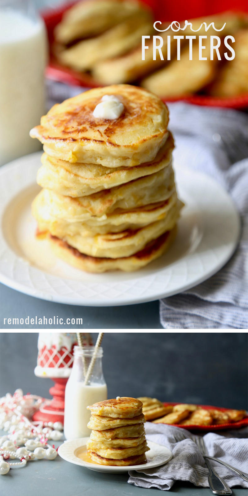 A yummy take on breakfast. Try this recipe for corn fritters at Remodelaholic.com