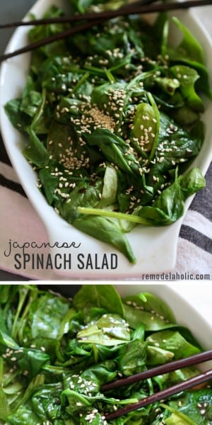 Remodelaholic Recipe Japanese Spinach Salad
