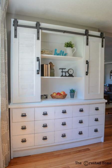 Best DIY Tutorials And Tips, Sliding Barn Door Hutch The Created Home