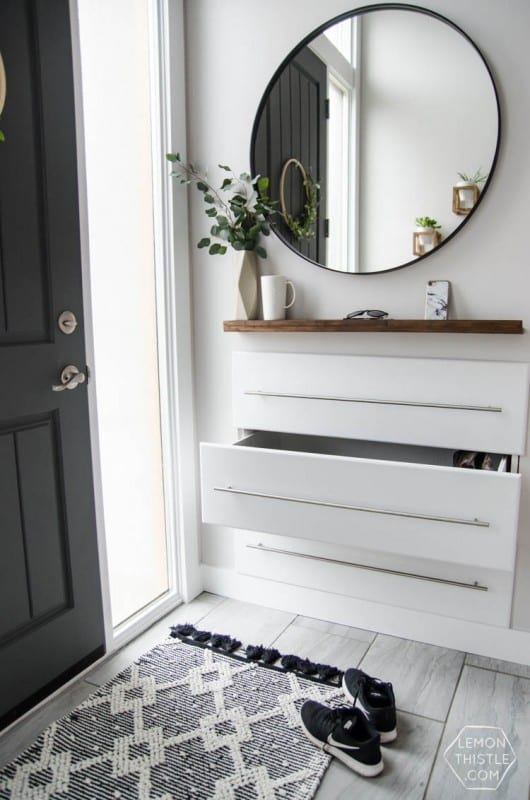Best DIY Tutorials And Tips, Split Level Entry Makeover With Added Storage Lemon Thistle
