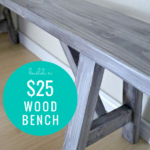 Build An Easy DIY Wood Bench For $25, Remodelaholic