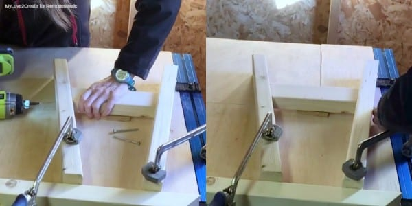 Building Bench Legs, Easy DIY Bench, MyLove2Create