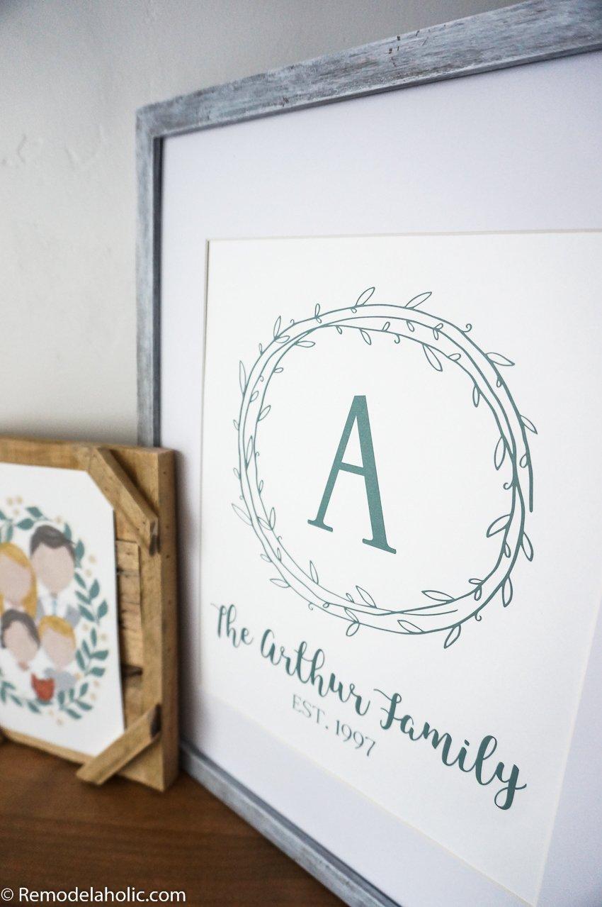 Word Art PrintFamily Name PrintA4 PrintFamily Initial /& NameArtwork