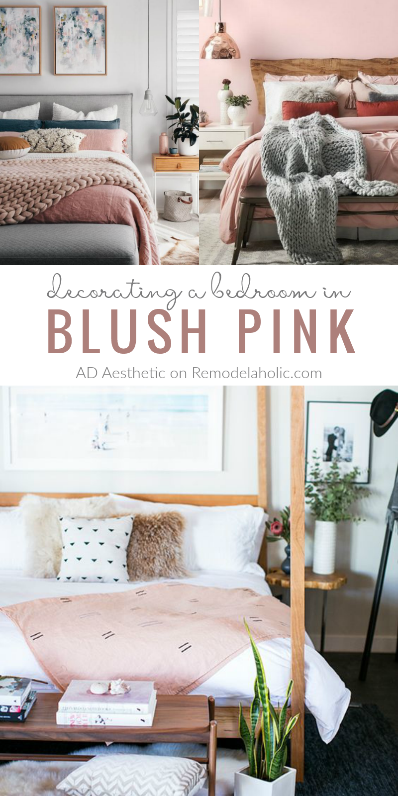 Remodelaholic  Pretty in Pink! Blush Pink Bedroom Inspiration