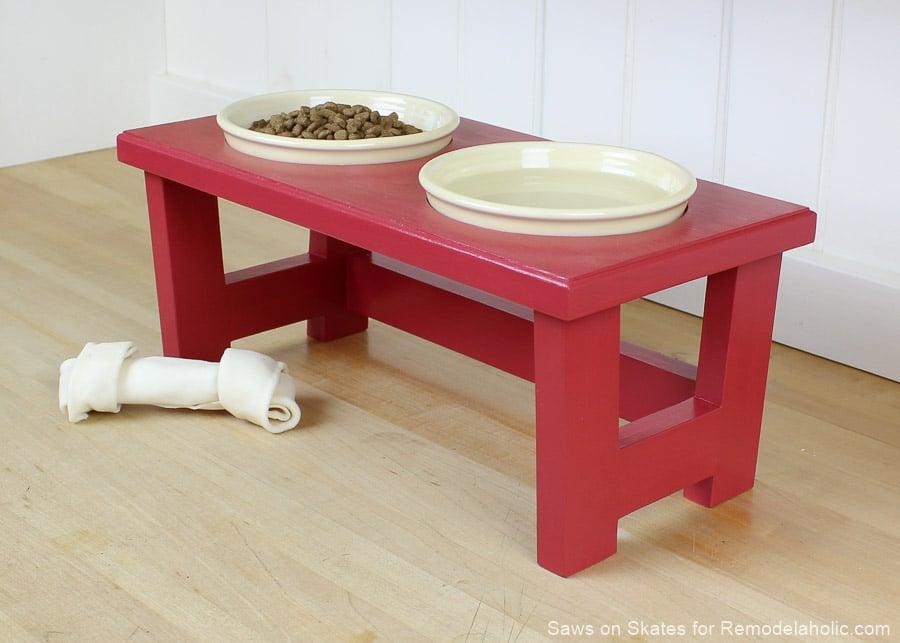 Diy Dog Food Bowl Stand Sos 7