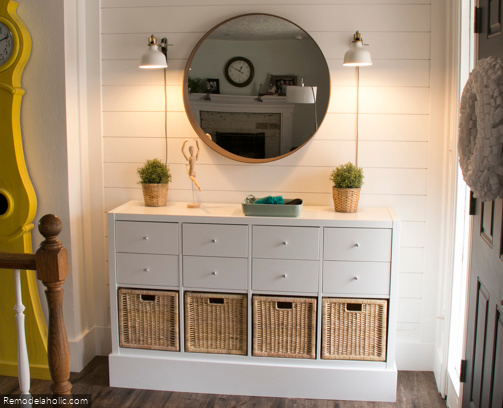 Entryway Storage With Ikea Hack From Remodelaholic