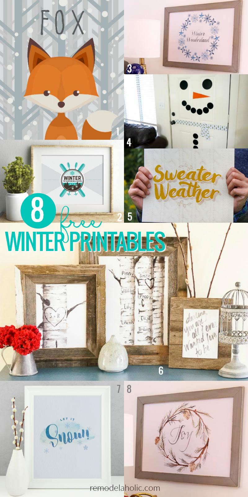 Remodelaholic Free Winter Printable Let It Snow