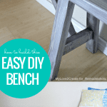 How To Build An Easy Diy Bench Farmhouse Rustic Style @Remodelaholic