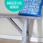 How To Build An Easy Farmhouse Diy Wood Angled Leg Bench, Remodelaholic