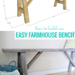 How To Build An Easy Farmhouse Wood Bench, Printable Plans And Video Tutorial, Remodelaholic