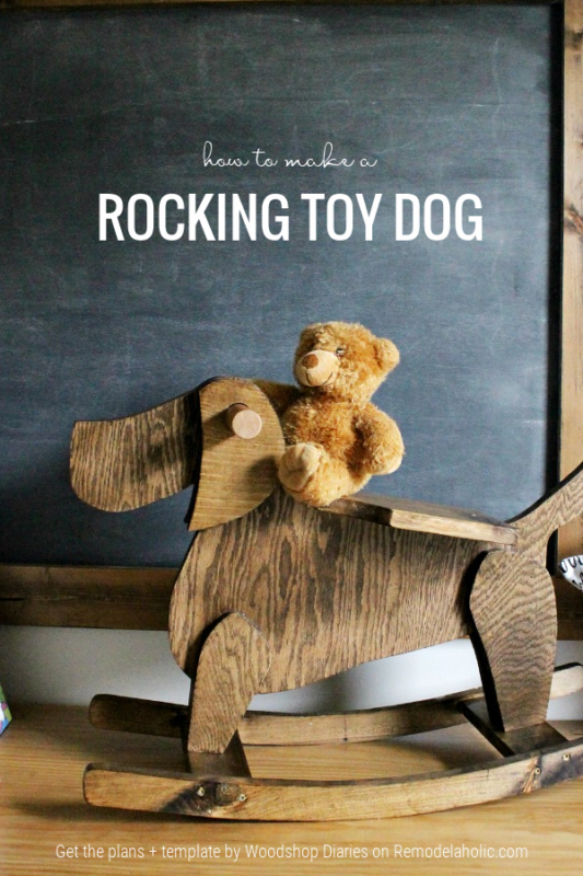 How To Make A DIY Rocking Horse, Rocking Dog Toy Plans, Woodshop Diaries For Remodelaholic