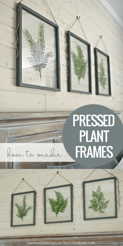 How To Make Your Own DIY Pressed Plant Frame @Remodelaholic