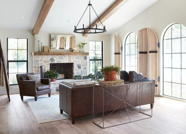 Texture and structural elements really help create this look by Joanna Gaines.