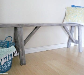 How to Build An Easy DIY Bench for Just $25