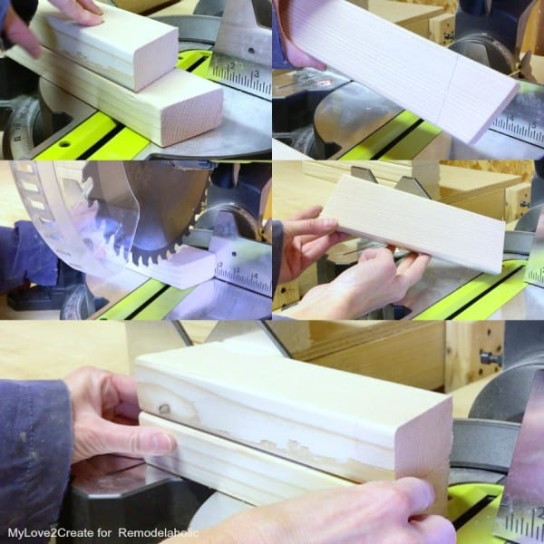 Marking And Cutting Center Leg Supports, Easy DIY Bench, MyLove2Create