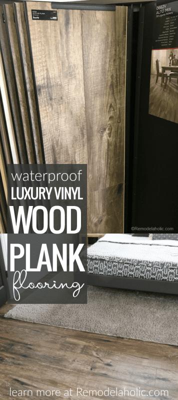 Waterproof Luxury Vinyl Wood Plank Flooring @Remodelaholic