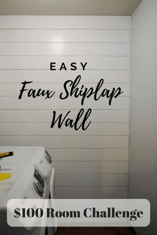 Easy Shiplap Wall