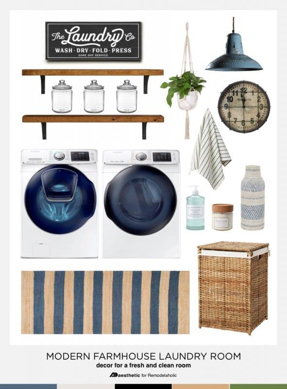 Modern Farmhouse Laundry Room Mood Board