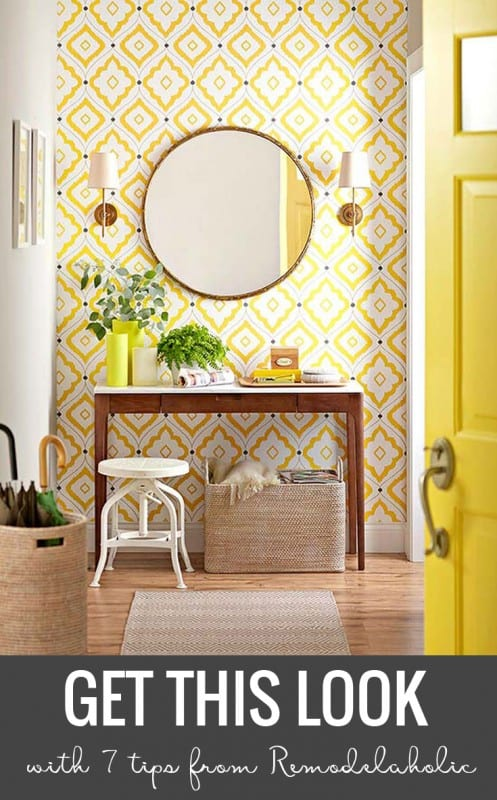 Remodelaholic Get This Look Yellow Contemporary Entryway