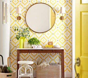 Remodelaholic Yellow Contemporary Entryway BHG