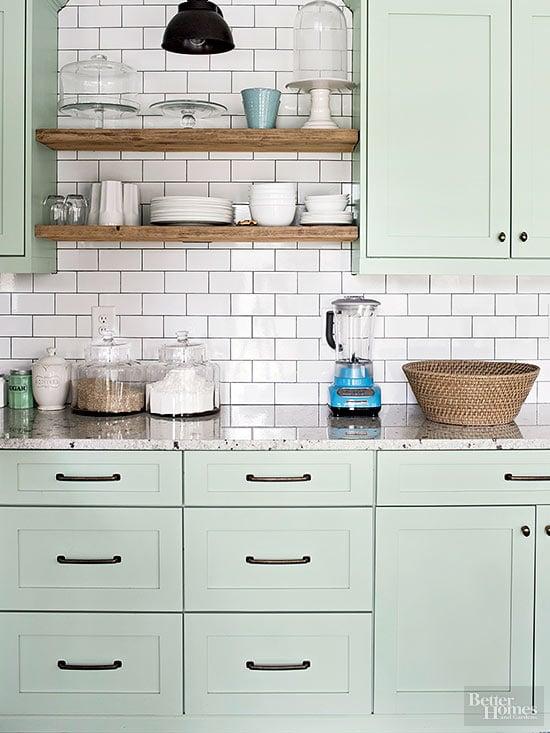Sage Kitchen Cabinets BHG