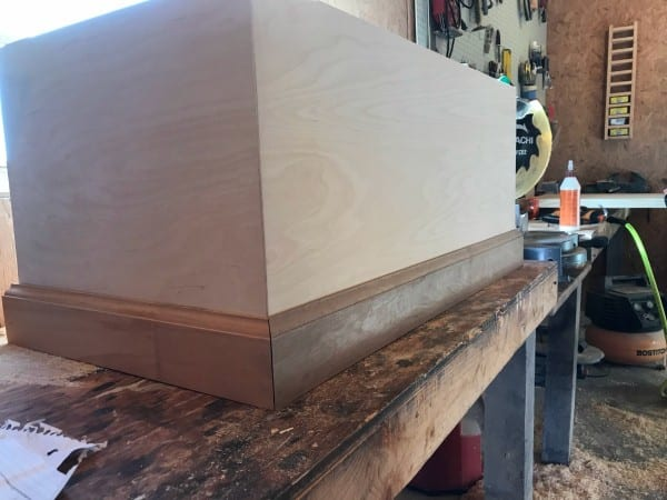 Woodshop Diaries Toy Box Baseboard Trim