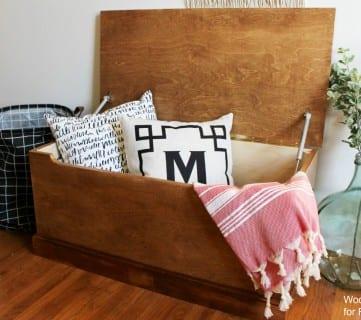 Simple DIY Wooden Storage Chest Plans + Tutorial