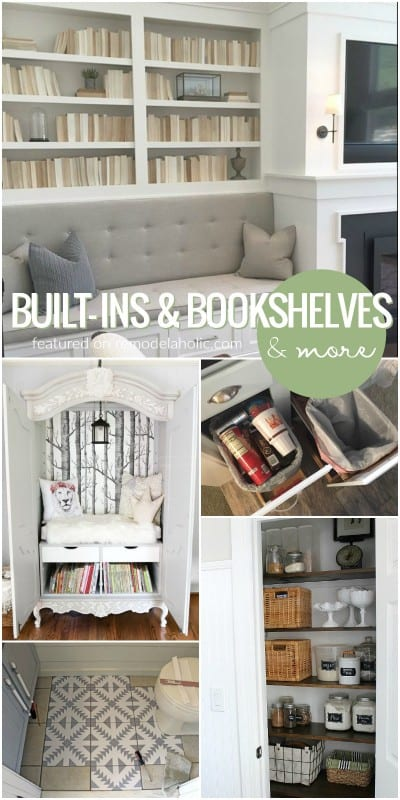 Friday Favorites, Built Ins And Bookshelves And More @Remodelaholic