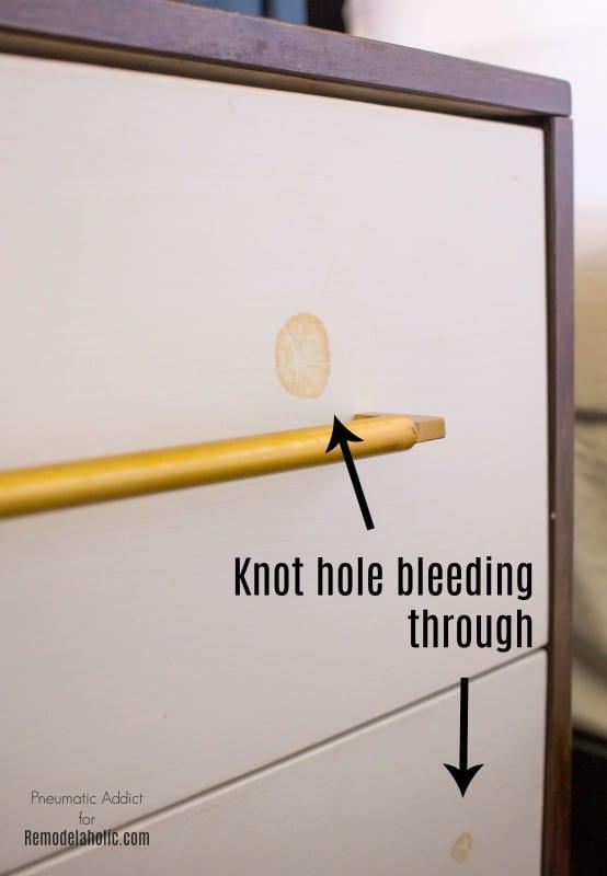 Knothole Color blanco Esmalte de madera de tanino WM