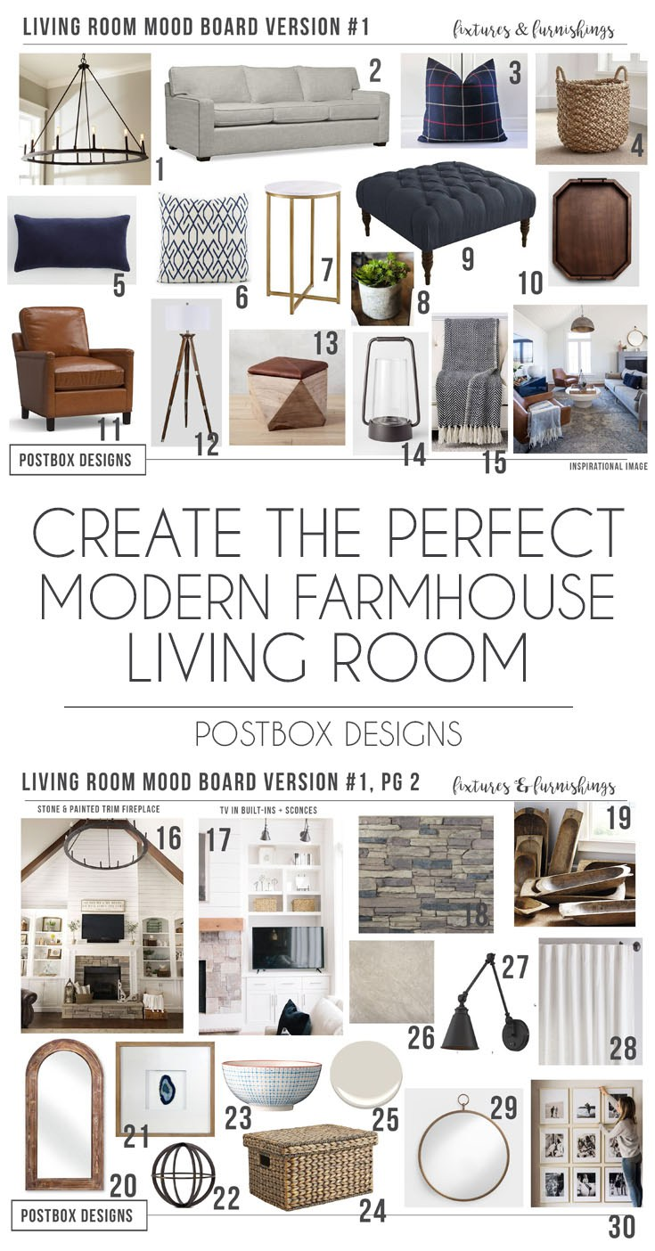 Remodelaholic modern farmhouse living room for just 1200 - Modern family room design ideas ...