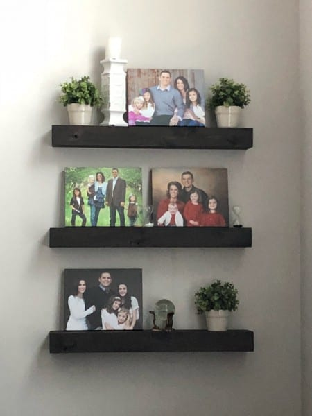 Remodelaholic Floating Shelf 3 Decorated