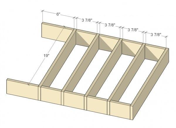Remodelaholic Removable Large Utensil Drawer Organizer Step 1