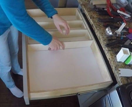 Remodelaholic Removable Large Utensil Drawer Organizer Step 2