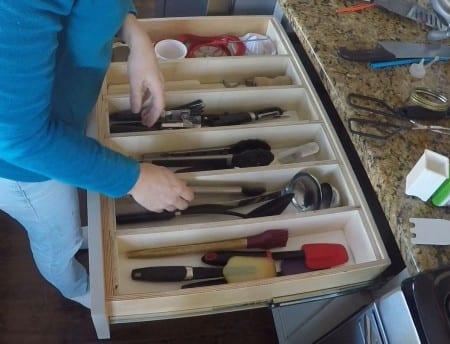 Remodelaholic Removable Large Utensil Drawer Organizer Step 5