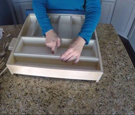 Remodelaholic Removable Utensil Drawer Organizer Step 10