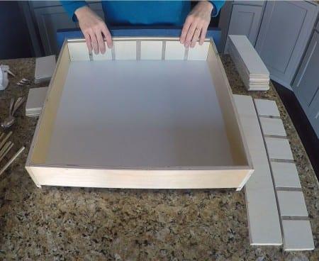Remodelaholic Removable Utensil Drawer Organizer Step 6