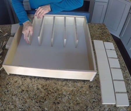 Remodelaholic Removable Utensil Drawer Organizer Step 8