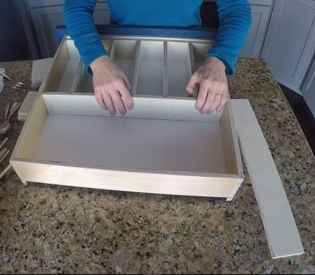 Remodelaholic Removable Utensil Drawer Organizer Step 9