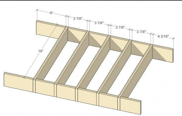 Remodelaholic Removable Utensil Drawer Organizers Cut Diagram 1 (13)
