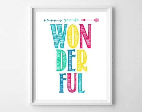 You Are Wonderful Frame