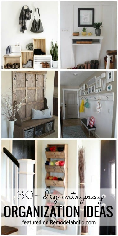 Create More Function In Your Entryway With Organization. 30+ DIY Entryway Organization Ideas Featured On Remodelaholic.com