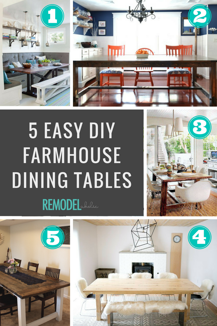 DIY Farmhouse Dining Tables Remodelaholic