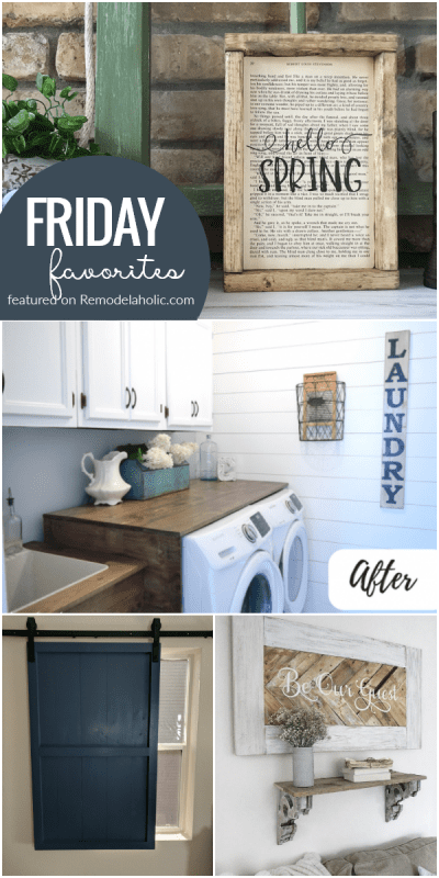 Friday Favorites, Spring And Barn Doors And Reader Features 3.15.18