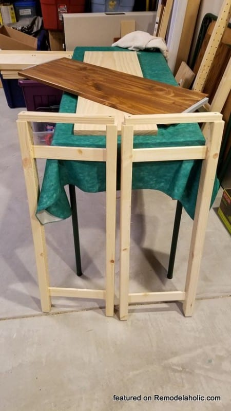 IKEA Hack Side Table Shelves, Side Pieces